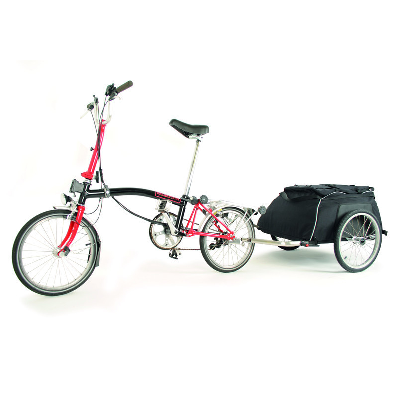 20044 Cyclone4 Chubby Bicycletrailer Attached