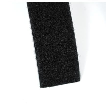Velcro noir 25 mm boucles